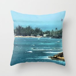 Blurring Into Distance Throw Pillow