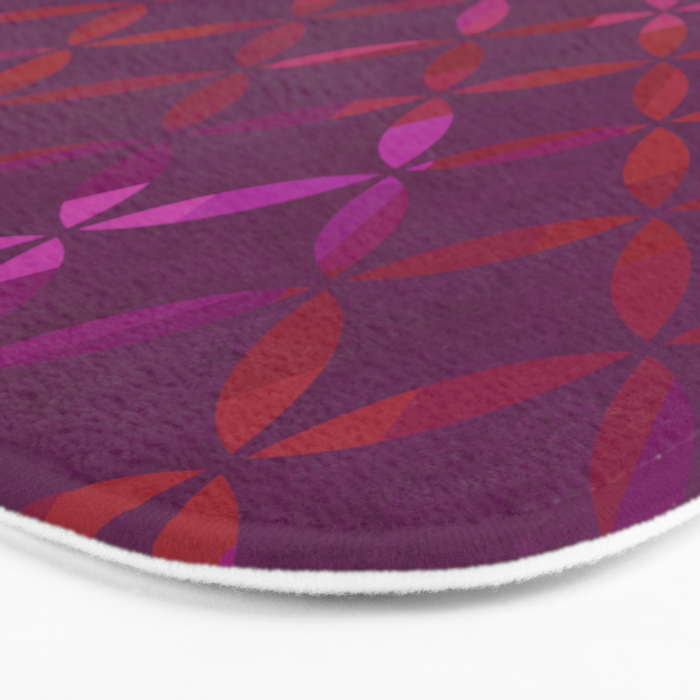 Fancy red and pink circle pattern Bath Mat