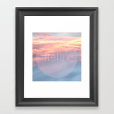 Relaxation Framed Art Print