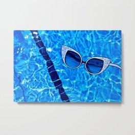 Paper Sunglasses Metal Print