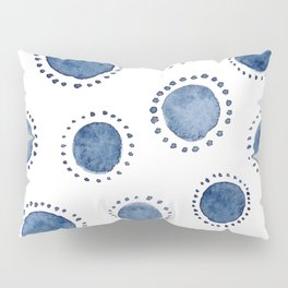 Beautiful Modern Home White & Indigo Polka Dot Pattern Pillow Sham