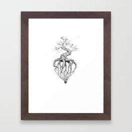 Heart Root Framed Art Print
