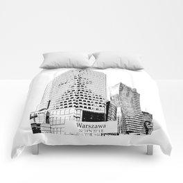 Warszawa minimal city #warsaw #warszawa Comforters