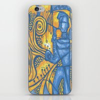 saxophone iPhone & iPod Skins featuring Saxophone by tempehmonster