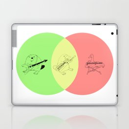Keytar Platypus Venn Diagram - GYR Laptop & iPad Skin
