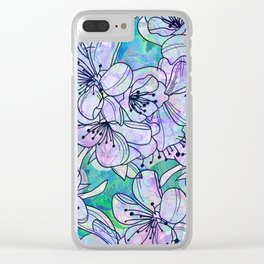 Over and Over Flowers Clear iPhone Case