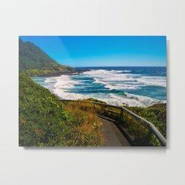 Seascape Ecola State Park II Metal Print