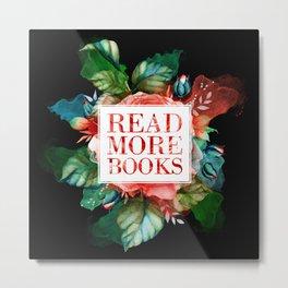 Read More Books - Black Metal Print