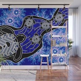 Baby Sea Turtles - Aboriginal Art Wall Mural