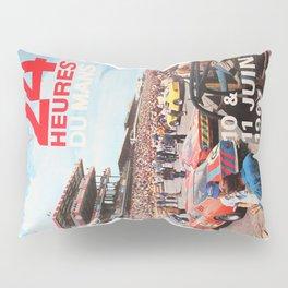 24hs Le Mans 1967, vintage poster Pillow Sham