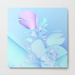 Flowers in Baby Pastels Metal Print