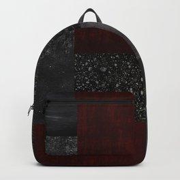 Patchwork (Burgundy + Black) Backpack