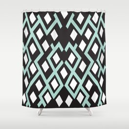 Cubed Lines Shower Curtain