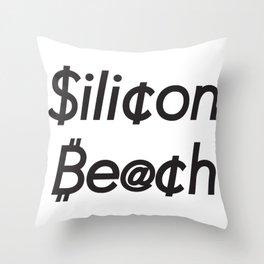 Silicon Beach A Throw Pillow
