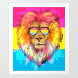 The Pan Lion Pride Art Print