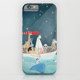 little nautical explorers iPhone Case