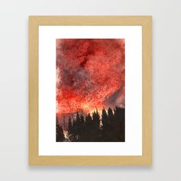 Red Sky at Night. Framed Art Print