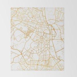 NEW DELHI INDIA CITY STREET MAP ART Throw Blanket