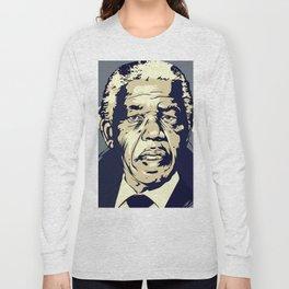 Nelson Mandela Art Long Sleeve T-shirt