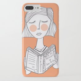 Reading Jane Austen is always a good idea. iPhone Case