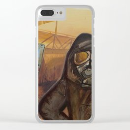 Nuclear Fallout Wasteland Clear iPhone Case