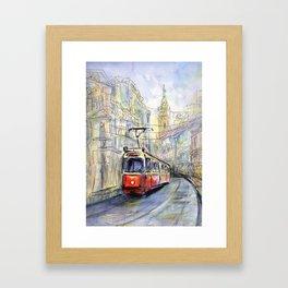 old tram Framed Art Print