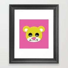 Blah Bear Framed Art Print