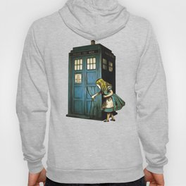 Through The Police Box - Alice In Wonderland Hoody