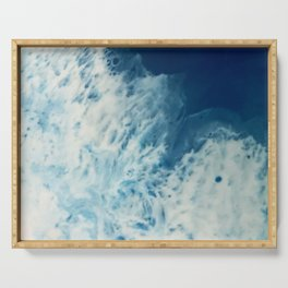 Bright, White, Frothy Ocean Surf Serving Tray