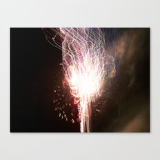 fireworks tracer Canvas Print