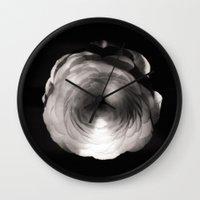 ass Wall Clocks featuring Mapplethorpe Ass Flower by Gwyneth