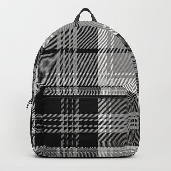 Black & White Tartan (var. 2) Backpack