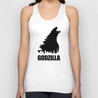 godzilla Tank Tops featuring Godzilla by Nick Kemp
