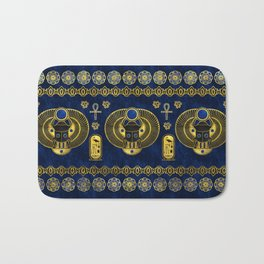 Egyptian  Scarab Ornament Pattern Bath Mat