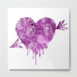Mosaic of purple owls V T-Shirts Metal Print