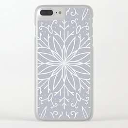 Single Snowflake - Silver Clear iPhone Case