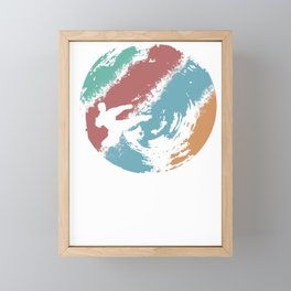This retro karate design is the perfect gift for martial artists who loves Taekwondo or Kung Fu Framed Mini Art Print