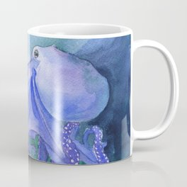 Octopus in the Reef Watercolor Coffee Mug