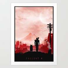 Fallout 4 inspired Poster  Art Print