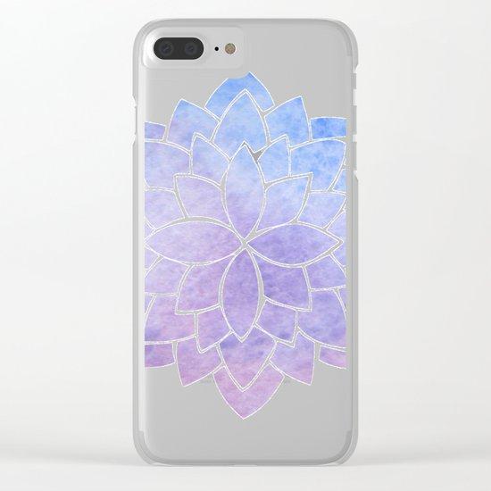 Purple Mandala Clear iPhone Case