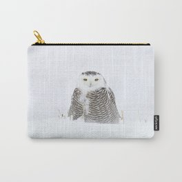 White on white Carry-All Pouch