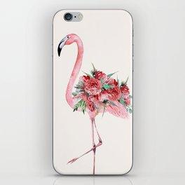 Flamingo Floral iPhone Skin
