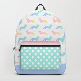 Pastel Welsh Corgi Silhouettes Backpack