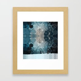 Fancy Snow: White Hare In A Snow Storm Framed Art Print