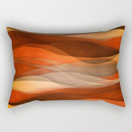 """Sea of sand and caramel waves"" Rectangular Pillow"