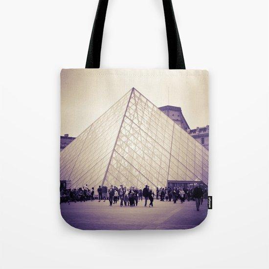 The Purple Pyramid Tote Bag