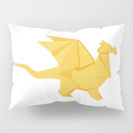Origami Golden Dragon Pillow Sham