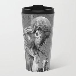 sad female statue Travel Mug