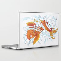 koi fish Laptop & iPad Skins featuring Koi Fish by Give me Violence