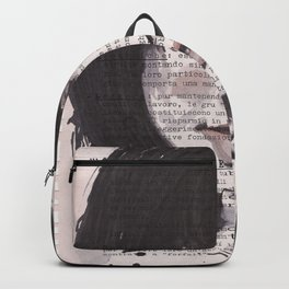 Young girl - ugly portrait Backpack